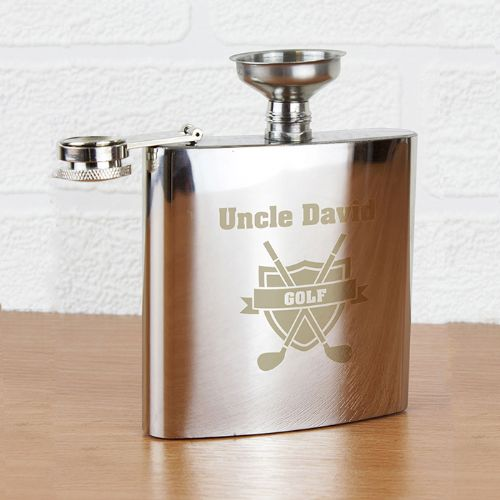 Personalised Golf Hip Flask